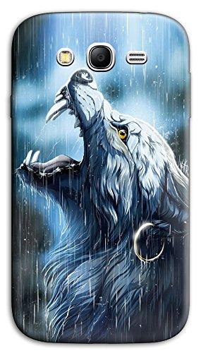 Mixroom - Cover Custodia Case in TPU Silicone Morbida per Samsung Galaxy Grand Neo I9060 (Plus) M570 Lupo sotto La Piogga