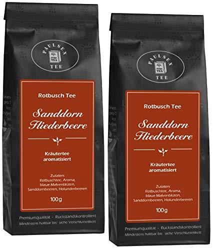 Sanddorn Fliederbeere 2 x 100g (44,75 Euro / kg) Paulsen Tee Rotbuschtee rückstandskontrolliert
