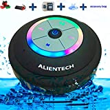Waterproof bluetooth speaker with color changing LED light ring, WaterproofWater resistent wirless shower