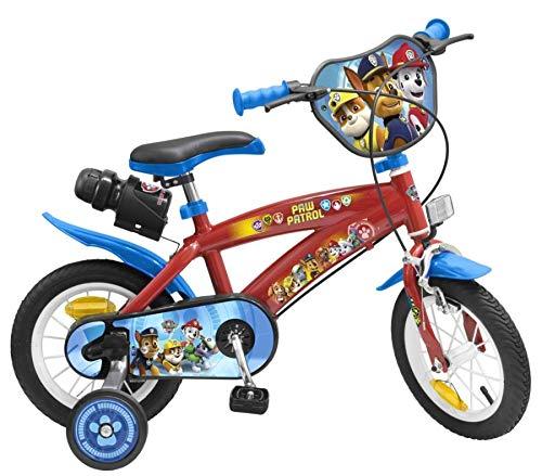 Unbekannt 12 Zoll Disney Kinder Jungen Disney Fahrrad Kinderfahrrad Jungenfahrrad Rad Bike Paw Patrol Blau Rot