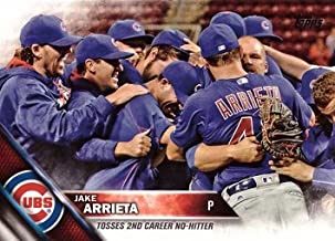 2016 Topps Update #US62 Jake Arrieta Checklist Baseball Card - Throws 2nd Career No Hitter