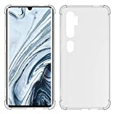 TIYA Case Clear for Xiaomi Mi Note 10 TPU Four Corners Cover Transparent