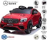 BC BABY COCHES Mercedes GLC 63S - Coche eléctrico para niños con BATERÍA 12v con Ruedas Caucho y...