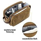 BAGSMART Kulturtasche für Herren, Reise Kulturbeutel Kosmetiktasche mit Doppelter Reißverschlussöffnung, Großer Stauraum, 5L - 6