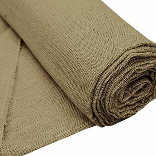 BalsaCircle 60-Inch x NEW before selling ☆ 10 Yards Natural by Atlanta Mall Th Fabric Burlap Brown