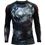 Rashguard Hardcore Training Pitbull City-m MMA BJJ Fitness Grappling Camiseta de...
