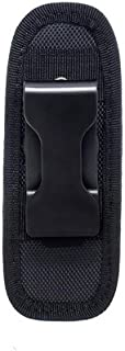 Meoliny Flashlight Pouch Tretchy Nylon Pouch Flashlight Holster Duty Belt Carry Case Holder 360 Degree Rotatable Clip