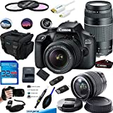 Canon EOS 4000D Digital Camera with EF-S 18-55MM F/3.5-5.6 III Lens + Canon EF 75-300mm f/4-5.6 III Telephoto Zoom Lens - Advanced Accessories Bundle (International Version)