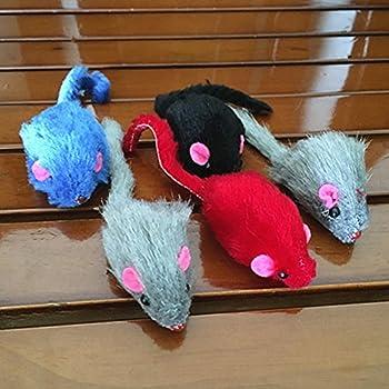 Feli546Bruce Toys Lot de 10 Souris de Simulation en Peluche avec Son Animal Domestique Jouet interactif à gratter