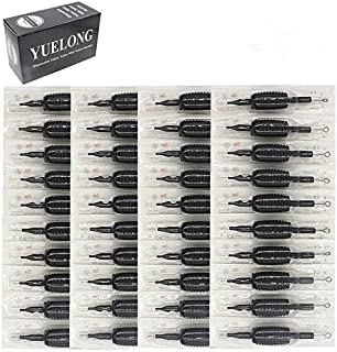 Tattoo Needles and Tubes Combo- Yuelong 40PCS Disposable Tattoo Tube with Assorted Pre-sterilized Tattoo Needles 3RL 5RL 7RL 9RL 5RS 7RS 9RS 5M1 7M1 9M1,for Tattoo Machine Tattoo Kits Tattoo Supplies