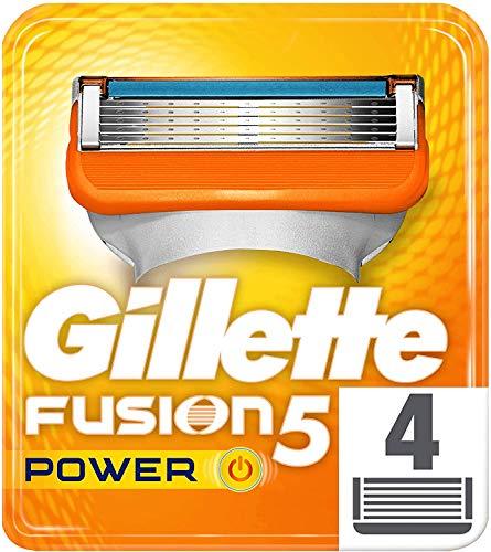 Gillette Fusion5 Power Maquinilla , 4 Recambios, 5 Hojas Antifricción, Para Un Afeitado Imperceptible