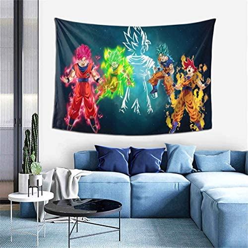 GIPHOJO Tapestry Dragon Orange Ball Z Son and Guku Anime Super S ai yan Poster Wall Hanging product image