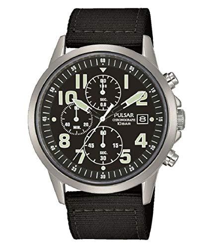 セイコー パルサー SEIKO Pulsar Mens Military Watch ブラック PM3175X1 [並行輸入品]