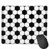 サッカーパターン マウスパッド 光学マウス 滑り止め超極細繊維 洗える ファッション ゲーム Pcマウスパッド オフィス 耐久性 25x30cm