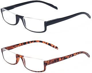 half wire frame glasses