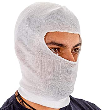 TCP Global Premium Painters Spray Socks One Size Fits All  Pack of 10  - Snug Soft Stretch Cotton Hood Mask - Covers Head to Protect Hair Face Neck from Paint Over-Spray Sanding Dust Dirt Debris