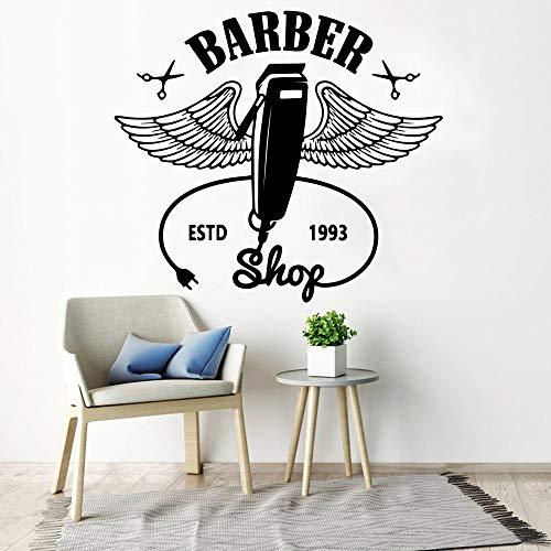 Pegatinas de avión, papel tapiz de barbero, decoración, pegatinas para sala de estar, murales de dormitorio, pegatinas impermeables extraíbles A3 57x64cm