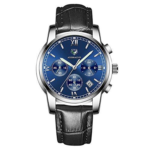 Reloj de Pulsera de Cuarzo para Hombre Reloj de Pulsera de Cuarzo analógico Resistente al Agua-D