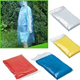BXzhiri 1/10/ 40Pcs Adult Emergency Waterproof Rain Coat, Colorful Rain Coat for Travel,Camping,Hiking,Concerts,Sport or Outdoors(7-12 Days to delivery)
