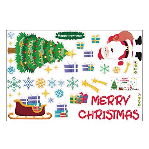Adhesivos Navidad Escaparates Marca BESPORTBLE