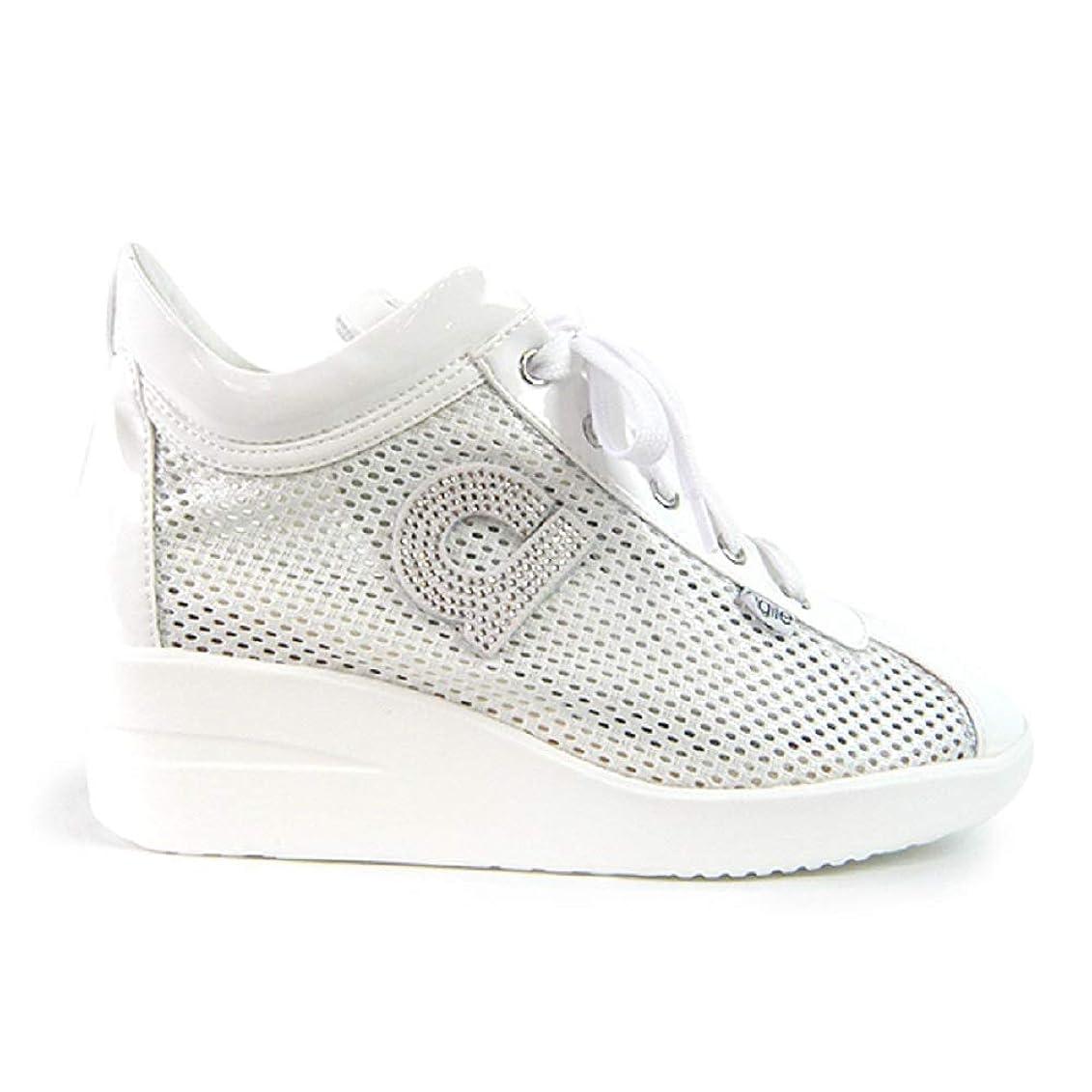 子豚漏れ劇的[ルコライン] スニーカー アージレ 靴 メッシュ ホワイト 白 CHAMBERS STRASS agile-180WH