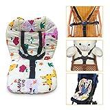 Coussin de chaise haute pour bébé, coussin de chaise haute, coussin doux double face épais respirant
