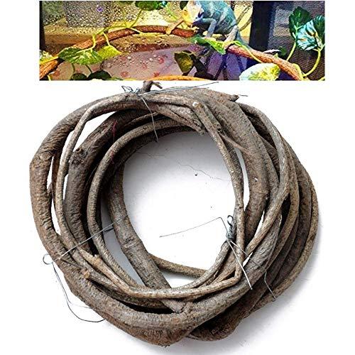 GZGZADMC Künstlicher Rattan-Zweig für Reptilien, flexibles Dschungel-Rattan, Reptilienranken, künstliche Reptilien, Kletterzweig, Dschungel, Rattan, Habitat, Dekoration für Eidechsen Chamäleon, 400 cm