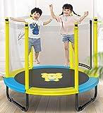 トランポリン 家庭用 子供用 折りたたみ式 収納便利 安全 静音設計 組み立て簡単 子供のプレゼント 室内遊具 マ ション 日本語取扱説明書付き001 (152cm- Yellow(ZF))