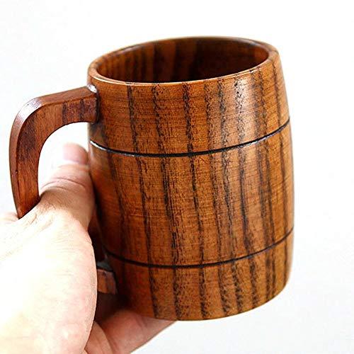 NO BAND Taza de café sólida Hecha a Mano Caliente Taza de Cerveza con Mango Tazas de Mula de Cobre Puro de Moscú con Taza de Madera de Gran Capacidad Drinkwares Gratis-España