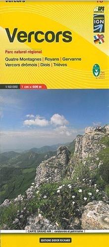 Libris Wanderkarte 10 Vercors 1 : 60 000: Parc naturel régional. Quatre Montagnes, Royans, Gervanne, Vercors dromois, Diois, Trièves