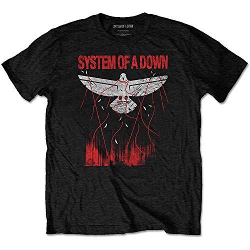 T-Shirt (Unisex-Xxl) Dove Overcome (Nero)