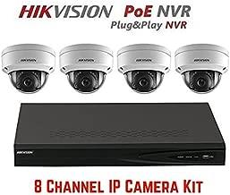Hikvision DS-7608NI-E2/8P 8CH 8 POE NVR & 4pcs DS-2CD2142FWD-I 2.8mm Lens 4MP POE Dome Camera Kit