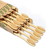 Biodegradable Reusable Bamboo Toothbrushes, Daletu Wooden Toothbrushes Organic Natural Eco-Friendly BPA Free Bristles - 10 Pack
