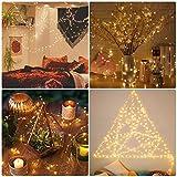 LE 12M LED Lichterkette Draht aus Kupferdraht, 100 LEDs, Wasserdicht IP65, Strombetrieben, ideal Stimmungslichter für Weihnachtsdeko Innen Außen Weihnachten Party Hochzeit usw. Warmweiß - 2
