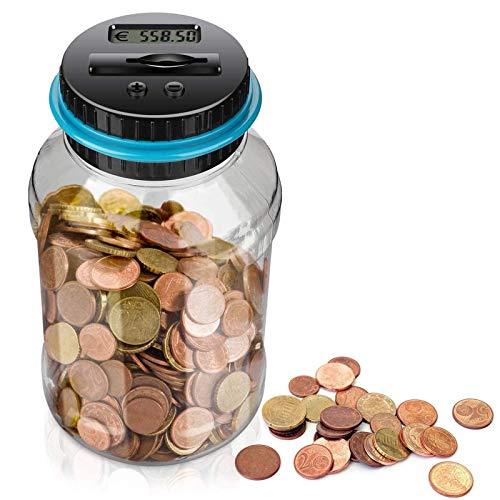 Geld Sparen Box Digitale Spardose Mit Münzzähler Automatische Münzzähler Sparbüchse Geld Sparen Box Digital Digital Piggy Bank Spardose Zähler Münzen Münzen Zählwerk für Kinder und Erwachsene Euro