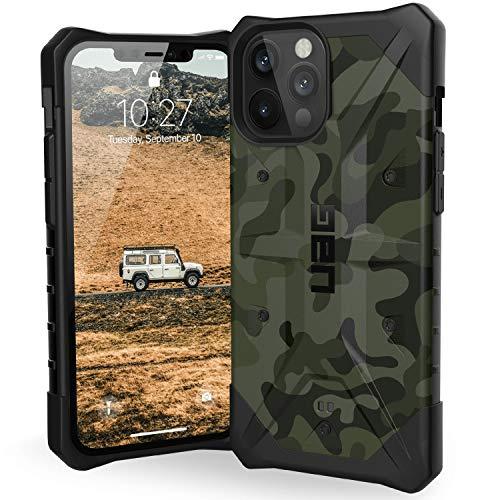 Urban Armor Gear Pathfinder Cubierta Apple iPhone 12 Pro MAX (6,7' Pulgadas) Funda Protectora (Compatible con Carga inalámbrica, Resistente los choques, Parachoques Ultra Delgado) Forest Camo