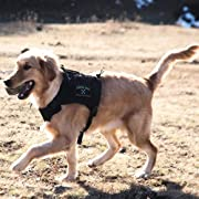 OneTigris Tactical Service Dog Vest - Water-Resistant Comfortable Military Patrol K9 Dog Harness with Handle
