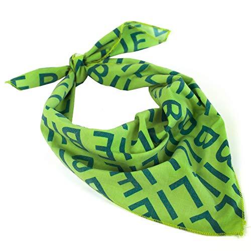 Billie Headband Scarf Green Letter Print Bandanas