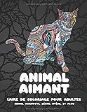 Animal aimant - Livre de coloriage pour adultes - Renne, marmotte, zèbre, hyène, et plus 🐼 🐫 🐵 🐘 🐒 🐨 🐦