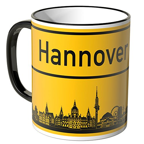Wandkings® Tasse, Skyline Hannover - SCHWARZ