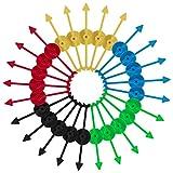 Spinner de Juego Flecha de Plástico para Partido Hogar Juegos de Mesa Colegio Enseñando Matemáticas 5 Colores 25 Piezas