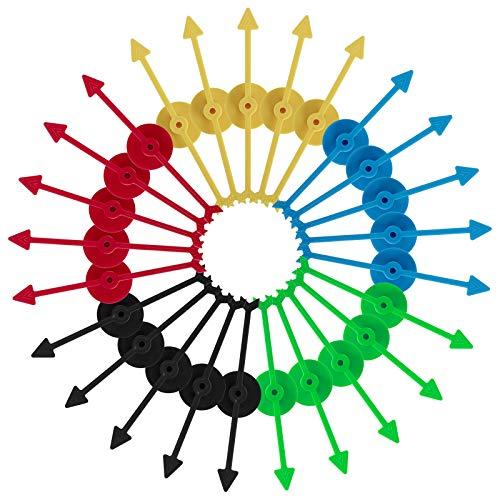 Spiel Spinner Pfeil Drehen Kunststoff Zeiger Spinner für Party Hause Brettspiel Schule Lehren Mathematik 5 Farben 25 Stück