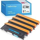 MyCartridge Compatible con Samsung 406 CLT-P406C Toner para Samsung CLP-360 CLP-365 CLP-360N CLP-365W CLX-3300 CLX-3305 CLX-3305FN CLX-3305W Xpress C410W c460 C460W (Negro/Cian/Magenta/Amarillo)