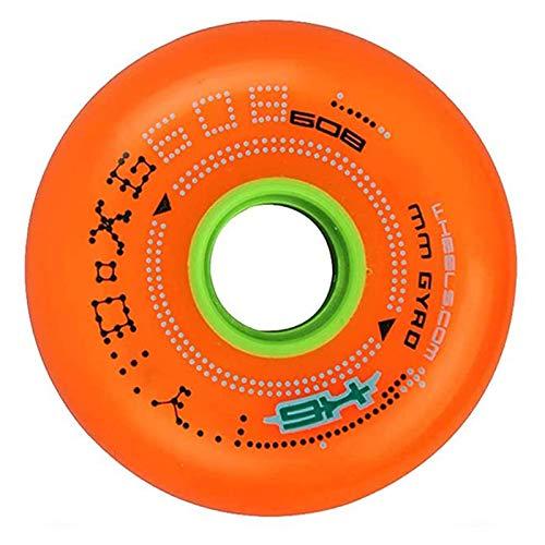 HJGHY Ruedas De Patín En Línea 84A (Paquete De 8) Maleta De Equipaje Rueda De Repuesto De Color Fluorescente para Patines para Principiantes Y Más,Naranja,80mm