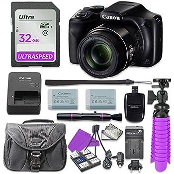 Canon PowerShot SX540 Digital Camera with 32GB SD Memory Card + Accessory Bundle