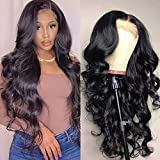 Maxine Hair Wigs Brazilian Lace Front Wigs Human Hair Body Wave 4x4 Free Part Lace Closure Wig Human Hair Wigs 150% Denstiy Pre Plucked with Baby Hair (22Inch, Closure Wigs)