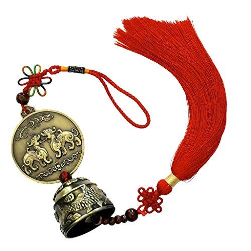 1x Windspiel Klangspiel Anhaengen mit Chinesischer Knoten Feng-Shui-Dekor #2