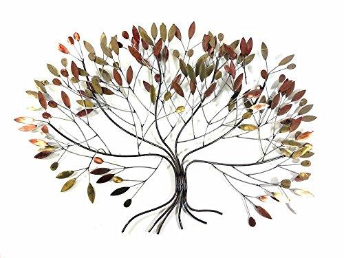 BWA Nueva Imagen de Arte de Pared de Metal contemporáneo o la Escultura - Ampliación de Las Hojas de otoño árbol