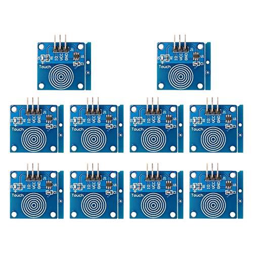 ZHITING 10 pezzi TTP223B Modulo interruttore tattile capacitivo Interruttore sensore tattile Interruttore sensore tattile capacitivo digitale DC 2~5.5V