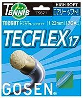 ゴーセン(GOSEN) テックガット テックフレックス 17 (テニス用) アクア TS671-AQ